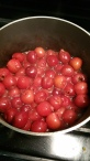 Bubbling and cooking down